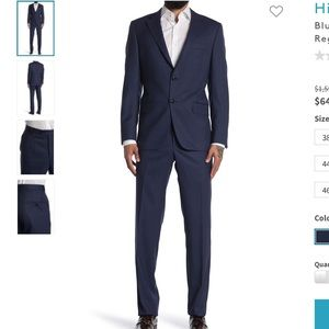 Hickey Freeman navy suit